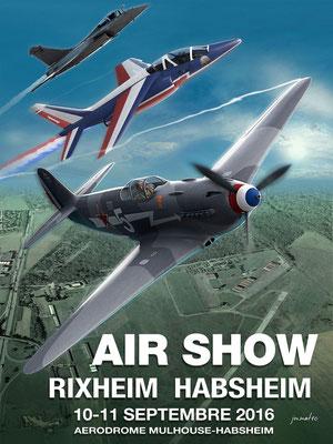 Affiche de l'Air Show Rixheim-Habsheim 2016