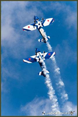 """La patrouille américaine """"Captens"""" en évolution à l'Air Show Rixheim-Habsheim 2016"""