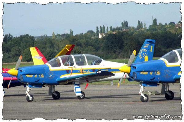 TB-30 Epsilon de la patrouille Cartouche Doré de l'armée de l'air (meeting Vichy 2006)