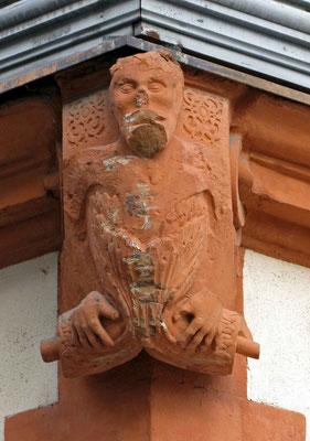 © Traudi - Menschenkopf und -rumpf mit Flossenschwanz (ca. 1600). Ein untypischer Neidkopf + in Waiblingen als Nöck bekannt - stellt ein mythishes Wesen dar.