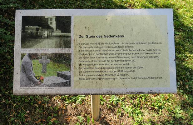 © Traudi - Infotafel bei den Gedenksteinen