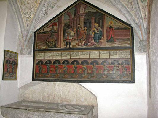 © Traudi  -  Kloster Heiligkreuztalm Fresko im Kreuzgang
