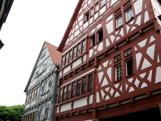"""09.06.2010 (c) Traudi  -  Das Kachelsche Haus. Repräsentatives dreistöckiges Wohnhaus der wohlhabenden Familie Kachel. 1536 wurde es erbaut. Er war Wirt der Schildwirtschaft """"Zum schwarzen Adler""""."""