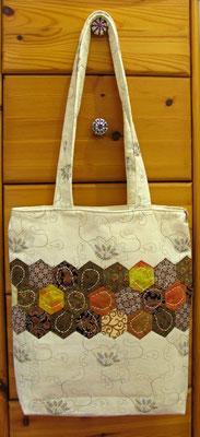 © Traudi –  Januar 2015 - Tasche mit Hexagon-Borte