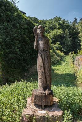 "© Traudi - Statue: der ""Lausche an der Wand"""