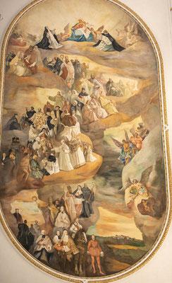 © Traudi - Das große ovale Deckengemälde aus dem Jahre 1939 schildert Persönlichkeiten aus Kirche und Staat