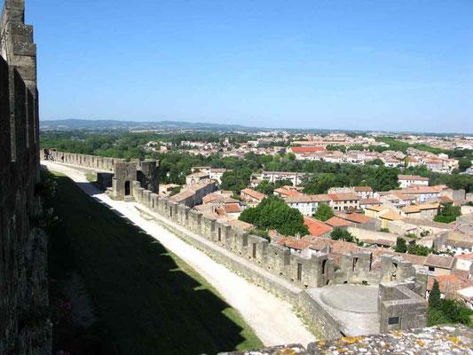 Carcassonne, Blick zur Neustadt – © Traudi
