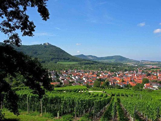 © Traudi – Blick zum Hohenneuffen und nach Beuren. Fotografiert unterhalb vom Beurer Fels.