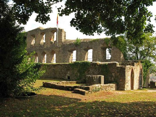© Traudi  -  Mauerreste der Ostseite des ehemalaigen Palas