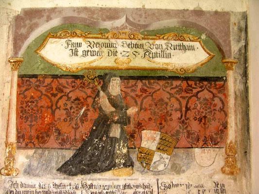 © Traudi  -  Kloster Heiligkreuztal, Fresko der Nonne Veronika von Rietheim im Kreuzgang