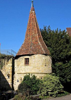 © Traudi - Der Bürgerturm war Eckturm der früheren äußeren Stadtmauer.