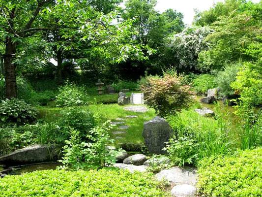 09.06.2010 (c) Traudi  -  Japangarten - Die Beziehungen zwischen den beiden Städten Bietigheim-Bissingen u. Kusatzu in Japan entstanden u. vertieften sich durch die Errungenschaft von E. Bälz, die heißen Quellen von Kusatsu f. Heilzwecke nutzbar zu machen