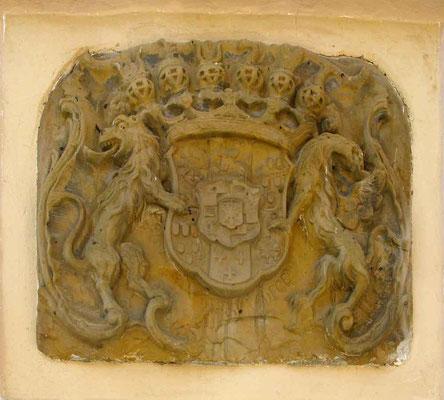 © Traudi – Burgruine Staufeneck, Löwen im Wappen