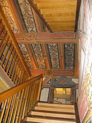 02.07.2011 (c) Traudi  - Das Hornmoldhaus. Vexierbildmalerei im Treppenhaus