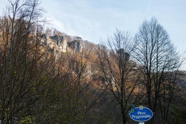 © Traudi - Blick zu den Felsen oberhalb der Oberen Roggenmühle