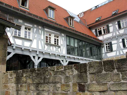 09.06.2010 (c) Traudi  -  Schloss, Innenhof  -  Das Bietigheimer Schloss war württembergisches Amtsschloss und wurde 1546 erbaut. 1542 wurde es in heutige Größe ausgebaut.