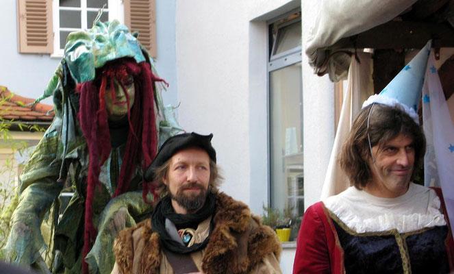 Mittelaltermarkt Esslingen, Drache, Räuber und Prinzessin - © Traudi