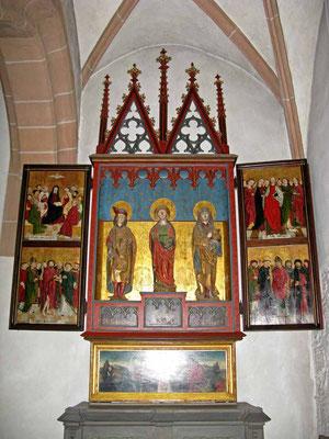 © Traudi - ehemalige Klosterkirche: heute Stadtkirche, Allerheiligenaltar (um 1500)