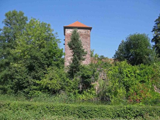 © Traudi  -  Der Burgfried bekam vor ein paar Jahren ein neues Dach, um nicht noch weiter zu verfallen.