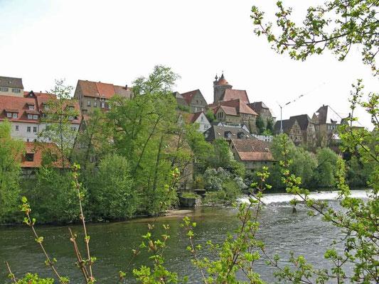 ©Traudi / Auf der Enz-Brücke mit Blick zur historischen Altstadt