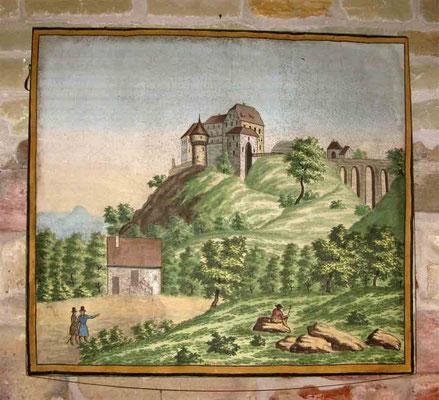 © Traudi ***  Gemälde im Ausstellungsraum von der früheren Burg