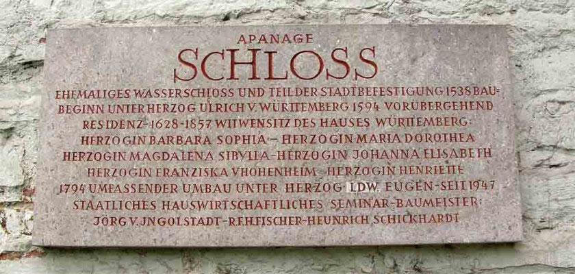 © Traudi 2010 – Schloss in Kirchheim u.T., Schild am Eingang