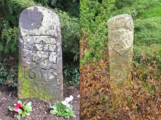 Foto 02.04.2010   Zwei Steine im Schlossgarten v. Oberen Schloss