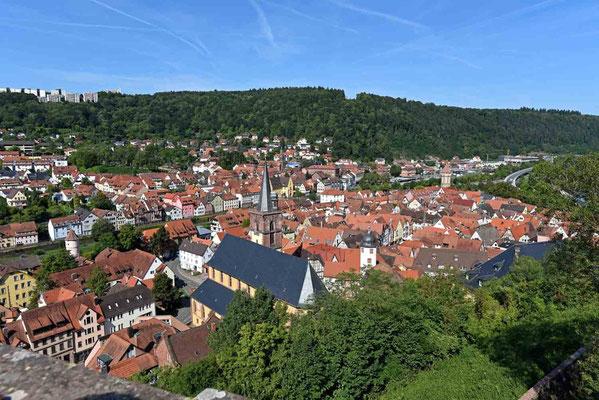 """© Traudi - Wertheim, mit dem """"Spitzen Turm"""""""