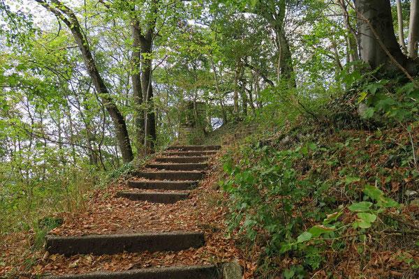 © Traudi - Der Aufstieg war sehr mühsam. Leider wusste ich nicht, dass es von der anderen Seite des Rosensteins eine bequemere Möglichkeit gab, zur Burg zu gelangen.