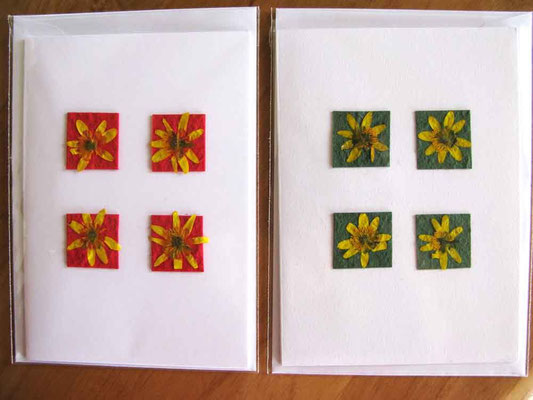 © Traudi - 2014 - Blüten auf geschöpftem Papier