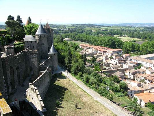 Carcassonne, Ausblick zur Neustadt – © Traudi