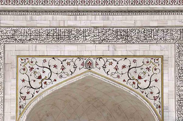 Foto (c) Traudi / Taj Mahal, Detailansicht über dem Eingang