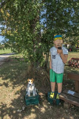 © Traudi - Das ist Heiko mit seinem  Hund und Handy