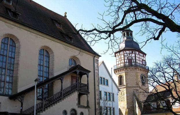 © Traudi  -  Stiftskirche St. Pancratius mit Stadtturm