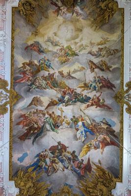 """© Traudi - Deckenfresko """"Verherrlichung des Kreuzes im Himmel und auf Erden""""  von Johann Nikolaus Stuber"""