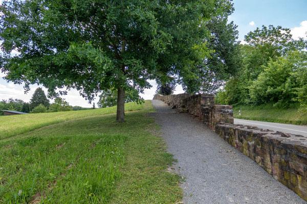 © Traudi - die etwa zwischen 1300 bis 1350 errichtete Ringmauer umschloss die gesamte Klosteranlage. (Länge 730 m, Dicke zwischen 60 und 80 cm.  Höhe etwa 1 m.
