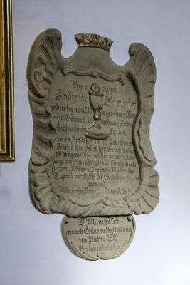 © Traudi - Gedenktafel  des Pfarrers Blumhofer, der dieses Bild erwarb.