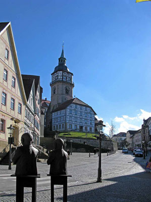 © Traudi  -  Turmschulhaus (heute Galerie der Stadt Backnang) mit Stadtturm
