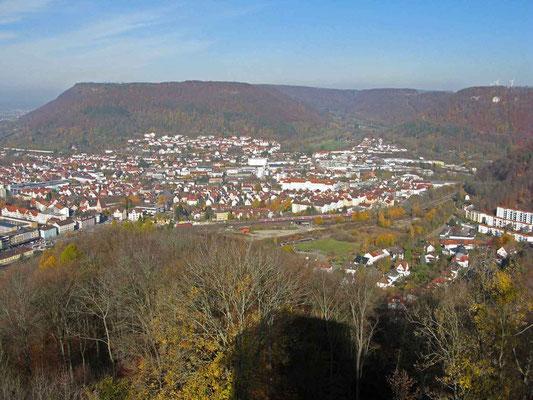 © Traudi – Burgruine Helfenstein, Aussicht nach Geislingen
