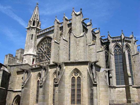 Carcassonne, Basilika Saint Nazaire, hinterer Teil – © Traudi