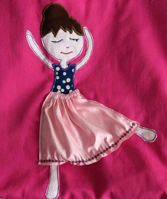 """© Traudi –  Kindertasche """"Ballerina""""  Ausschnitt -  Mai 2016"""