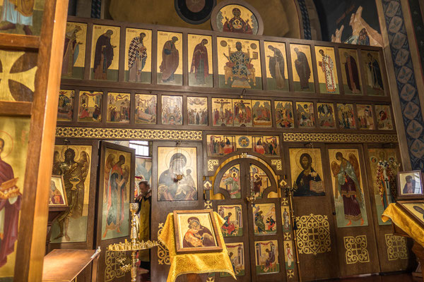 © Traudi - Ikonostase (mit Ikonen geschmückte Wand zwischen dem inneren Kirchenschiff und Altarraum))
