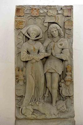 © Traudi - Sandstein-Epitaph des Grafen Eberhard V. und seiner Frau Kunigunde