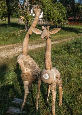© Traudi - aus Bambuswurzeln von Asiaten gefertigt: Strauß, Giraffe