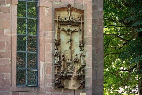 © Traudi - SOLI DEO - die Herrenalber Kreuzigungsgruppe an der Außenseite der Kirche