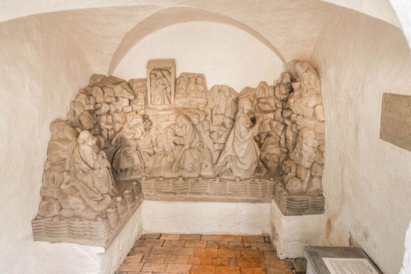 © Traudi - Die Ölbergszene wurde um 1500 in der Bildhauerwerkstatt des Klosters Adelberg geschaffen.