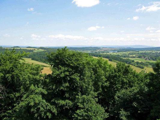 © Traudi – Burg Hohenberg, wunderschöner Rundblick vom Turm