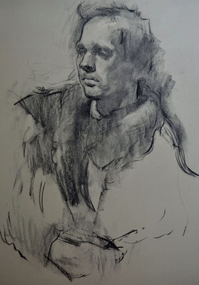 Julia Hawkins 'Portrait of a young man'
