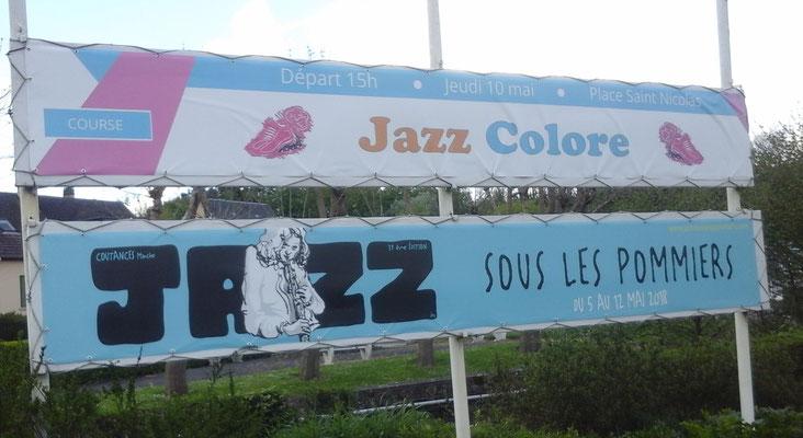 panneau jazz colore 2018 ville de Coutances