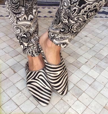 Babouches Zebra